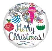 Anagram Standard Shape Folieballon Holografisch Merry Christmas 45 x 45 cm