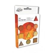 Craft Universe Glitterset oranje/goud 12-delig