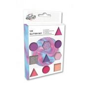 Craft Universe Glitterset roze/paars 12-delig