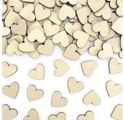 Party Deco Houten Hartjes Confetti 50 stuks