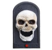 PartyXclusive Deurbel - Skelet - Bewegend - Met licht & geluid - 18cm