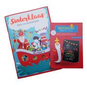"Joni's Winkel Sinterklaas sticker- , kleur- & doeboek ""Pakjesboot 12"" + Sinterklaas Kras & Toverblok 2x25 vel"