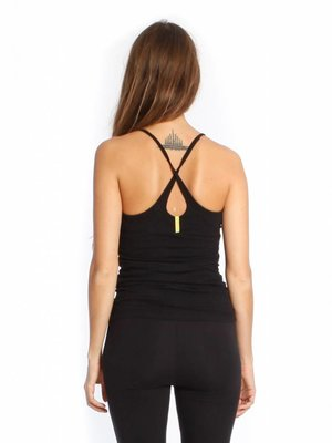 Yogamii Strap Top Black