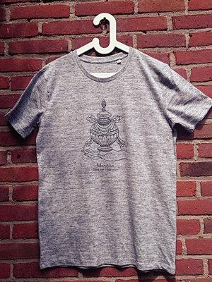 Maratika Foundation Men's t-shirt - light grey black logo