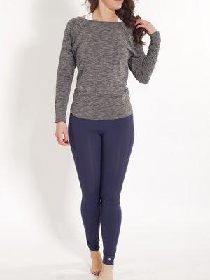 Tame the Bull - Seamless Yoga en Active Wear Yogashirt lange mouw Zwart Melee