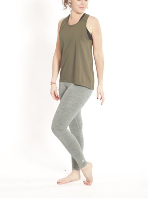 Tame the Bull - Seamless Yoga en Active Wear A-Line Sport and Yoga Top Groen