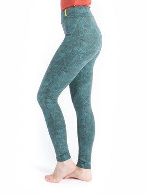 Yogamii - Organic Yoga Wear Lilly Aqua Print Legging