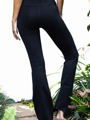Funky Simplicity Black Flared Legging