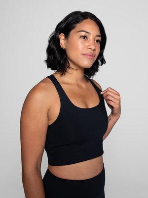 Girlfriend Collective - Yoga en Active Wear Paloma Bra Zwart