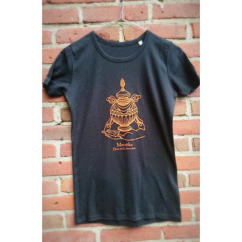 Maratika Foundation Women's t-shirt - black with orange