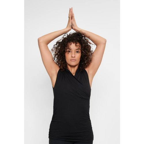 Urban Goddess Yoga Top Good Karma Zwart