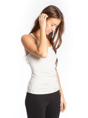 Yogamii - Duurzame Yoga Kleding Strap Top Nidra Grey Off-white Melee