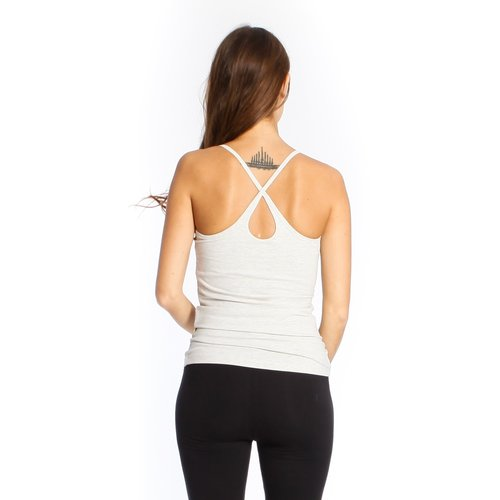 Yogamii Strap Top Nidra Grey Off-white Melee