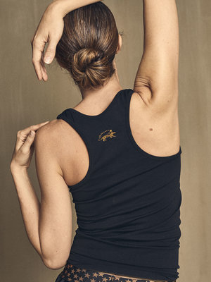 She Moves - Yoga en Active Wear Infinity Felice Nero Tank  Top
