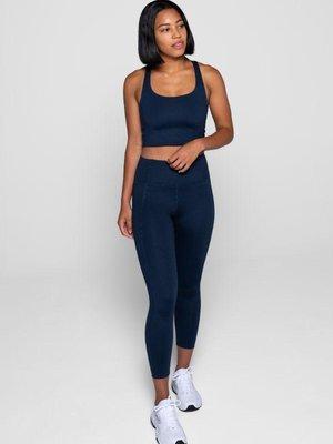 Girlfriend Collective - Yoga en Active Wear Compressive High-Rise Legging Midnight
