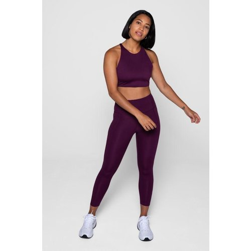 Girlfriend Collective Compressive High-Rise Legging Plum