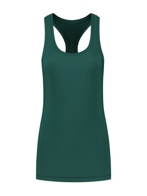 Tame the Bull Racerback workout Top  Pine Green
