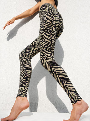 Funky Simplicity - Yoga en Active Wear  Zebra Black Cream Legging