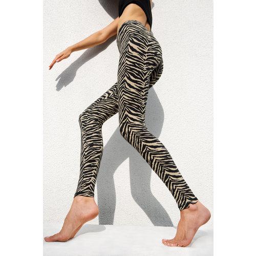 Funky Simplicity Zebra Black Cream Legging