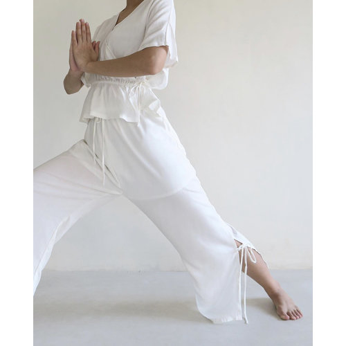 Inti Yoga Studio Selena Trousers Off-White