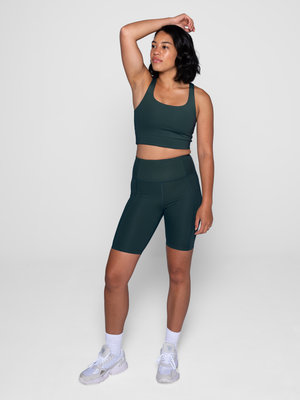 Girlfriend Collective Classic-Rise Bike Short Moss