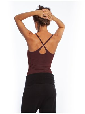 Yogamii Strap Top Dark Plum