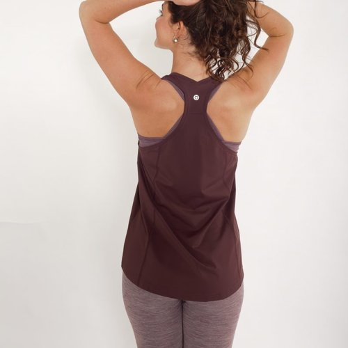 Tame the Bull A-Line Sport and Yoga Top Brown