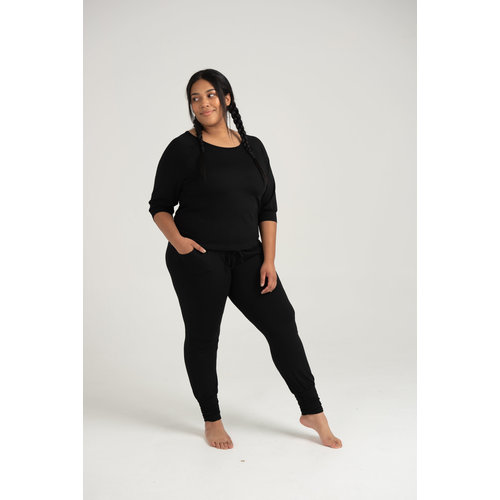 Asquith Long Harem Pants Black