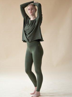 Yogamii - Organic Yoga Wear Lilly Legging  Dark Olive