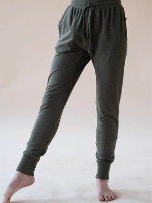 Yogamii - Organic Yoga Wear Mudra Pants Dark Olive