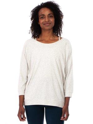 Yogamii - Organic Yoga Wear Mukha Blouse Off-White