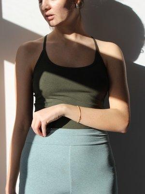 Yogamii - Organic Yoga Wear Strap Top Nadi Dark Olive