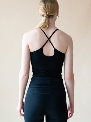 Yogamii - Organic Yoga Wear Strap Top Nidra Zwart