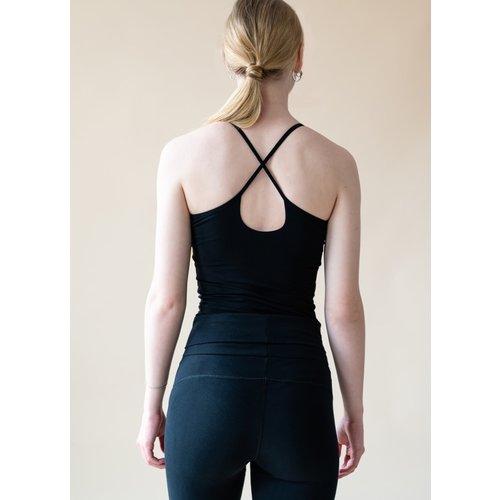 Yogamii Strap Top Nidra Black