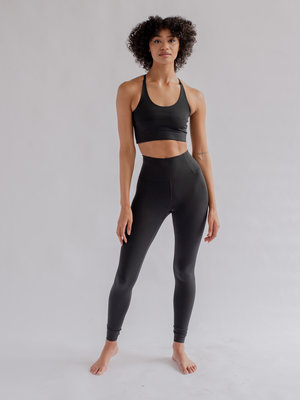 Girlfriend Collective - Yoga en Active Wear Float Hoge Taille Legging Zwart