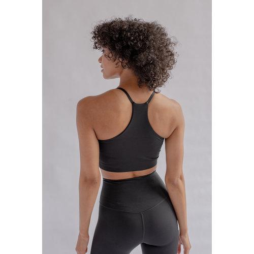 Girlfriend Collective - Yoga en Active Wear Float Bra Cleo Zwart