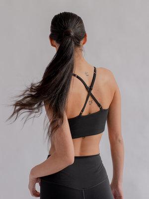 Girlfriend Collective - Duurzame Yoga- en Sportkleding Float Bralette Juliet Black