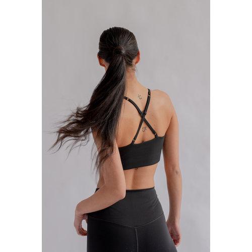 Girlfriend Collective - Yoga en Active Wear Float Bralette Juliet Zwart