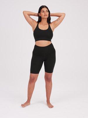 Girlfriend Collective - Yoga en Active Wear Float Hoge Taille Bike Short Zwart