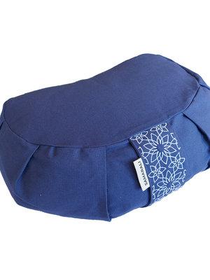 Samarali -  Organic Yoga Meditation Cushion Crescent Denim Blue