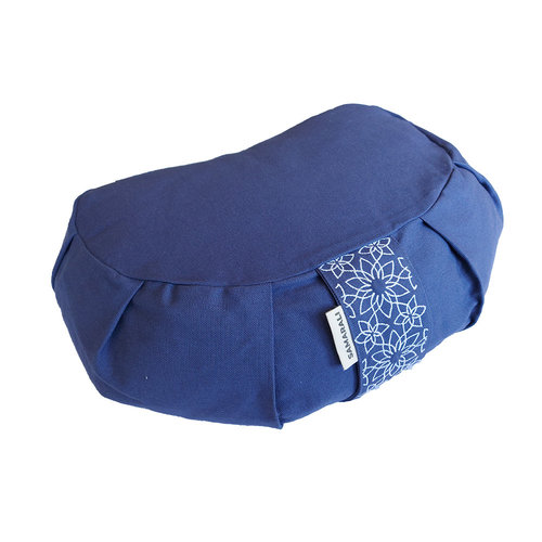 Samarali -  Yogamatten en Accessoires Organic Yoga Meditation Cushion Crescent Denim Blue