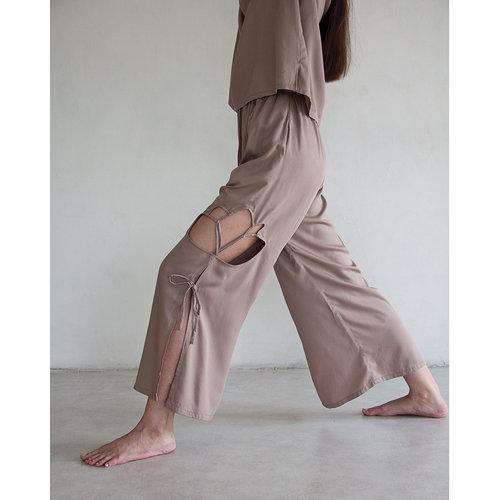 Inti Yoga Studio - Yoga en Lounge Kleding Zazen Broek Fossil