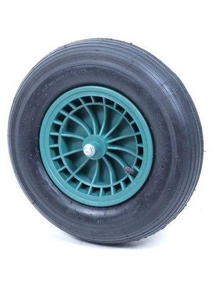 Import Kruiwagenwiel met kunststof velg en luchtband.2 ply