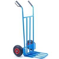 Steekwagen blauw met klep