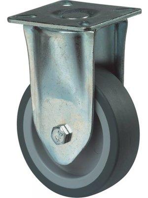 Kelfort Kelfort bokwiel Ø 100mm, met plaat, glijlager en grijs rubber band