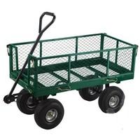Turfmaster tuinkar/transportkar met metalen draadkooi, 363kg