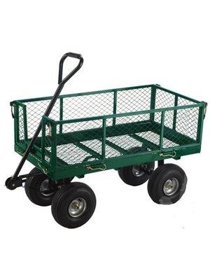 Turfmaster Turfmaster tuinkar/transportkar met metalen draadkooi, 363kg