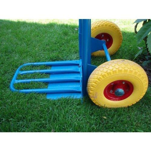 Import Steekwagen blauw met klep en anti-lek wielen