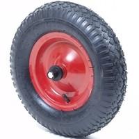 Kruiwagenwiel kompleet 400x8, 4 PR