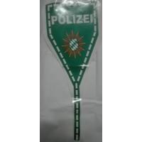 Politie-sticker voor de spoiler. POLIZEI-groen